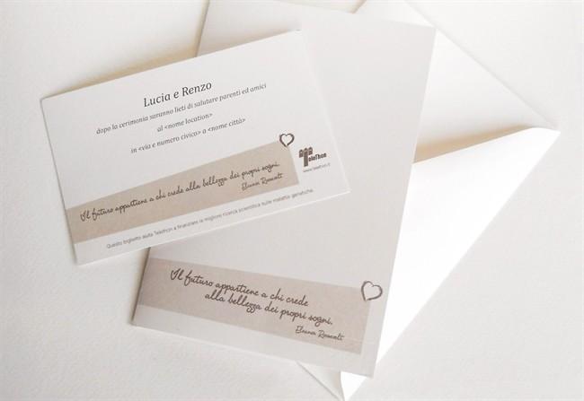 Molto Partecipazioni di nozze e inviti solidali - Style.it TH36