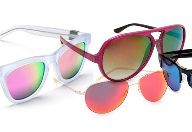 Occhiali a specchio colorati - Occhiali ray ban aviator specchio ...